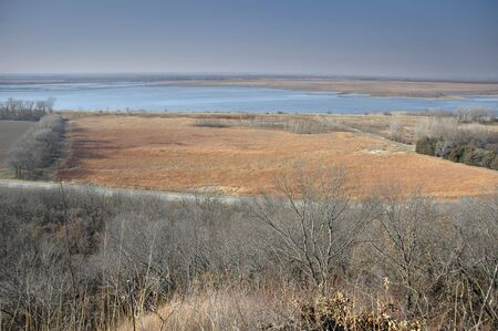 loess: View of Squaw Creek National Wildlife Refuge in Missouri from a vantage point on the loess hills.
