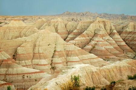 erosion: Erosion formations in the Badlands National Park, South Dakota.
