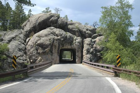 One of the tunnels along the Needles Highway in the Black Hills of South Dakota.