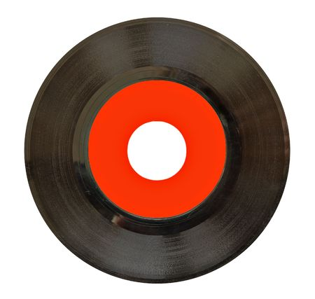 Antique vinyl 45rpm record. Scratches and imperfections at 100%.