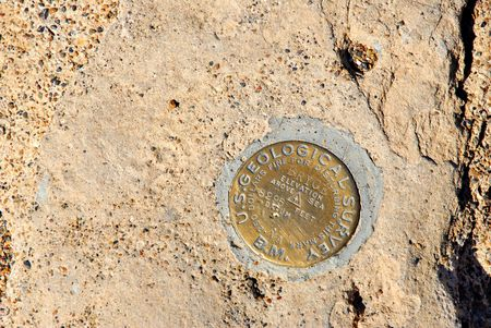 benchmark: U.S. Geological survery benchmark in Bryce Canyon National Park, Ut