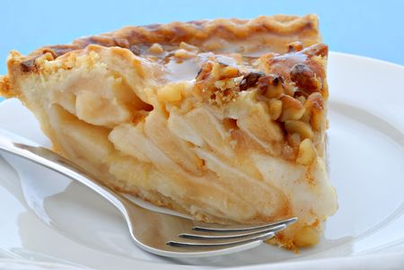 A caramel and pecan apple pie. Yummy!!