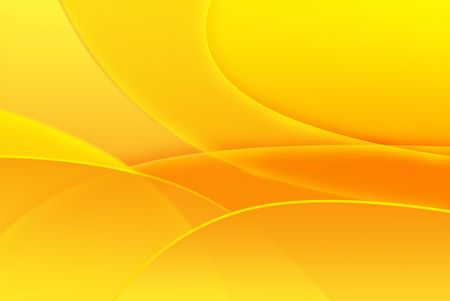 yellow: Orange & yellow abstract of lines and shapes. Stock Photo