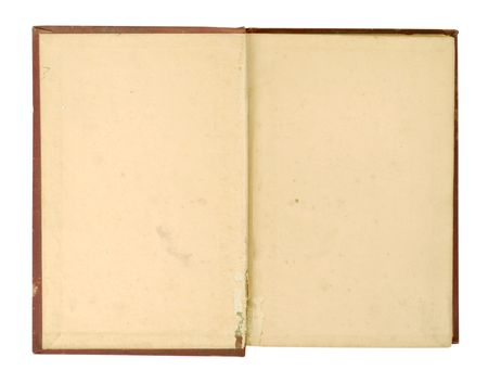 Inside cover of an old book, very worn and yellowed. Stock Photo - 3703174