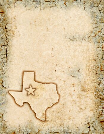 Grunge background of a Texas map.