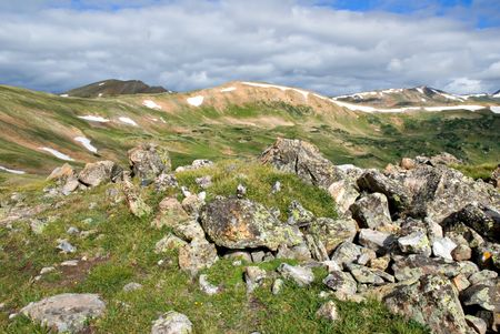 loveland: Tundra scenery at Loveland Pass, Colorado Stock Photo