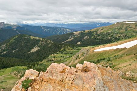 loveland pass: Scenic vista from Loveland Pass in Colorado.