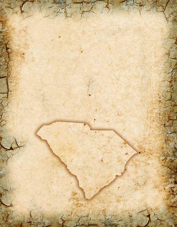 Grunge background with a South Carolina background.
