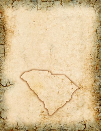 old pc: Grunge background with a South Carolina background.
