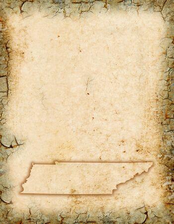 tennesse: Grunge antecedentes con un esbozo de mapa de Tennessee.