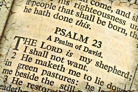 salmo: Sacra Scrittura del Salmo 23. Texture e effetti di et� software creato. Archivio Fotografico