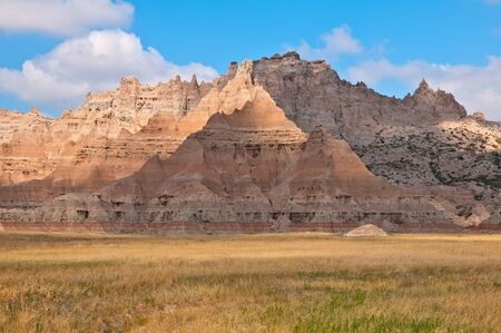 south space: Beautiful scenery of the Badlands National Park in South Dakota