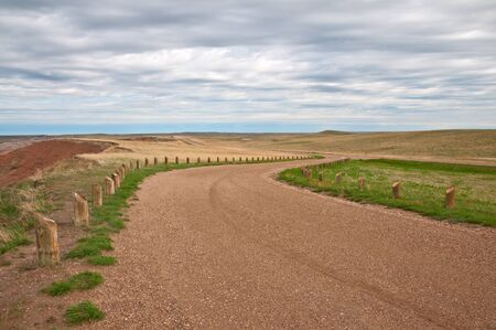 turnouts: One of the turnouts along Sage Creek Rim Road in the Badlands National Park, South Dakota