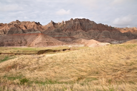 Scenic view of the Badlands National Park in South Dakota Stock Photo - 15208380