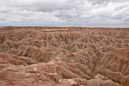 Scenic view of the Badlands National Park in South Dakota  Stock Photo - 15208385