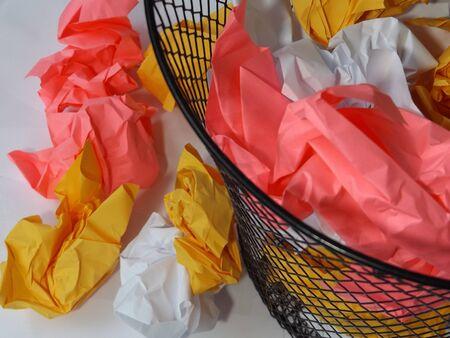 wastebasket: Colorful Wastebasket