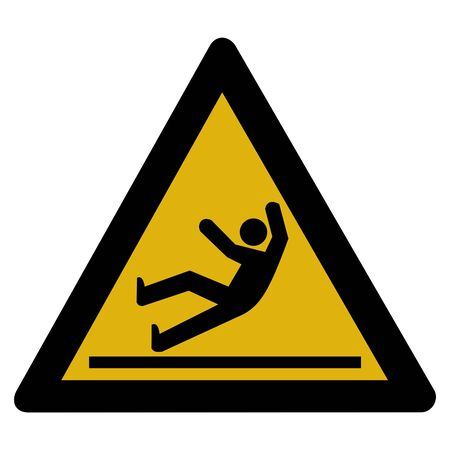Warning sign - accident - slippery