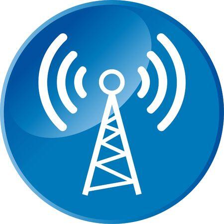 Radio antenna web button
