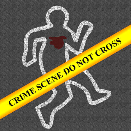 murder: crime scene   Stock Photo