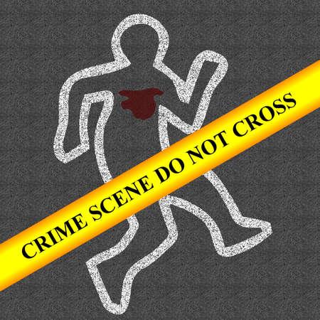 crime scene: la escena del crimen