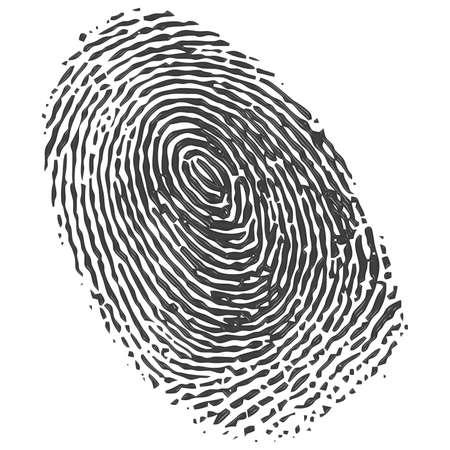 odcisk kciuka: odcisk palca Zdjęcie Seryjne