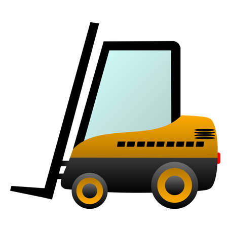 industrial icon: Forklift truck