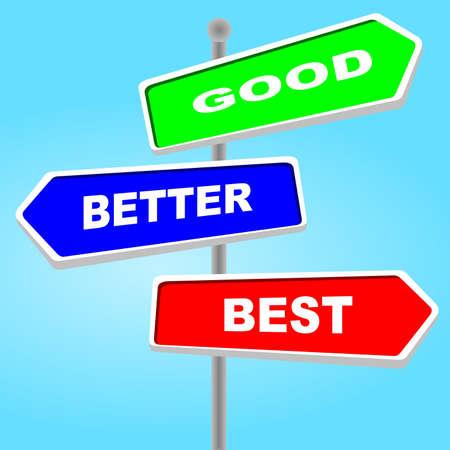 good better best: Direction sign - good better best