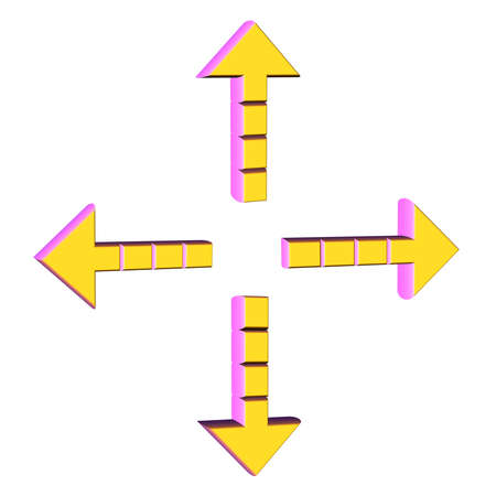 Arrows in four directions