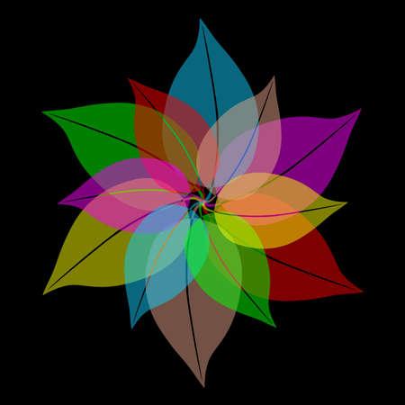 single line: Flower