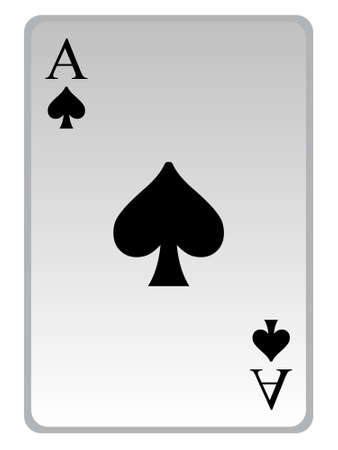 spade: game card Stock Photo