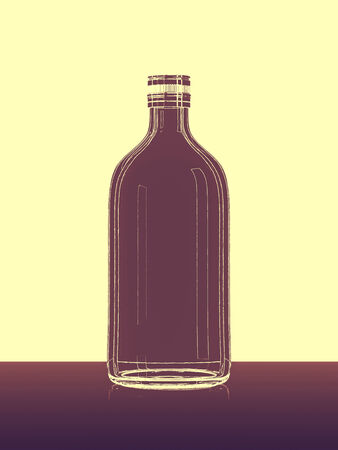 abstract bottle lines Standard-Bild