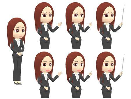 [Presentation A] Woman A suit oblique angle Stok Fotoğraf