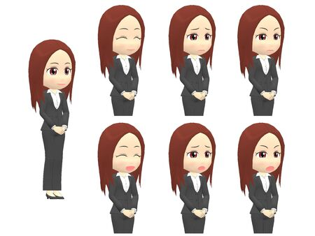 [Emotions A] Woman A suit oblique angle 写真素材