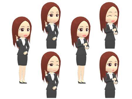 [Inspiration A] Woman A suit oblique angle