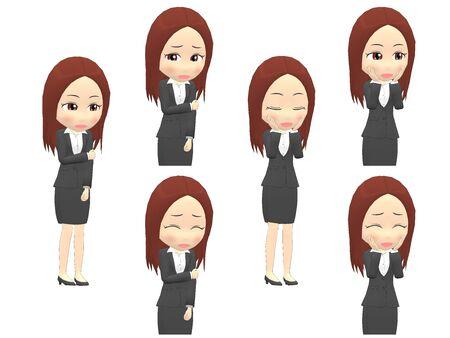 [Shy A] Woman A suit oblique angle