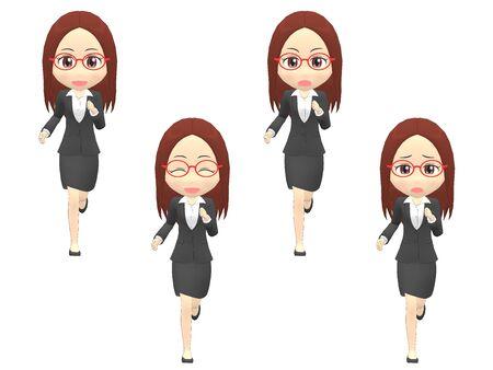 Run Woman A suit front