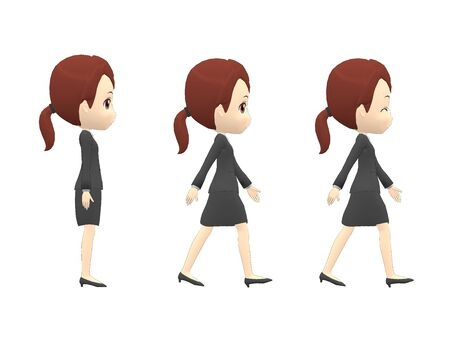 Walk Woman B suit side angle