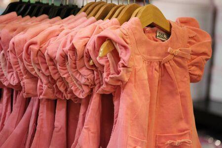 clothes rail: Pink dresses