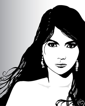 allure: vector illustration of a beautiful woman