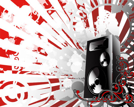 loud   speakers: vector illustration of abstract grunge background Illustration