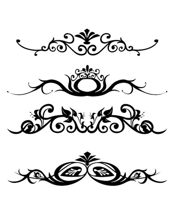 sharp curve: vector illustration of abstract floral banners Illustration