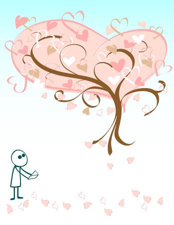 romance image: Illustration image of a valentines concept