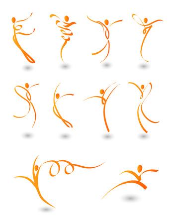 figuras abstractas: Ilustraci�n de figuras abstractas en movimiento