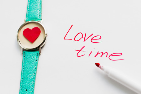 St. Valentines Day. Love time. Card. Space for text Stock Photo