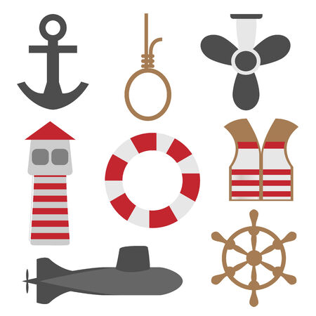 grapnel: Marine Icons Set