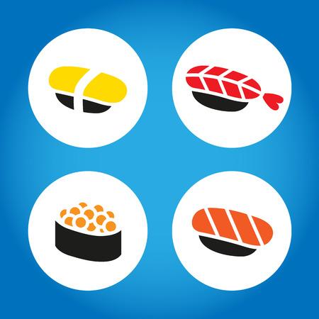 sesame seeds: Japanese Sushi Set