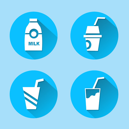 Drink icons set great for any use. Vector EPS10. Vector