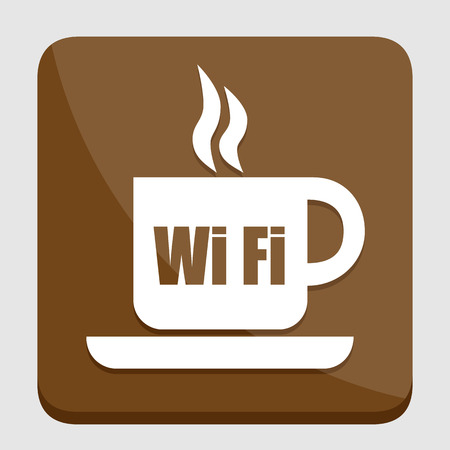 great coffee: Cup of coffee with WiFi icon great for any use. Vector EPS10.