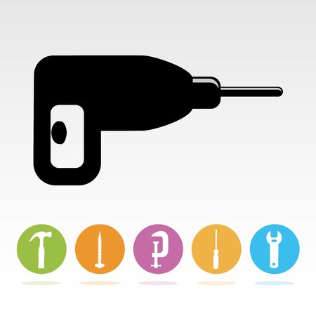 auger: Tool icons set great for any use. Vector EPS10.
