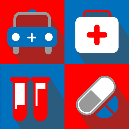 oxygen transport: Medical icon great for any use. Vector EPS10. Illustration